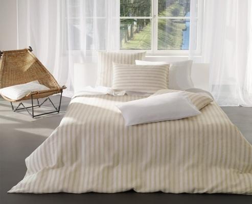 Jersey & Linnen Purolino beige-white