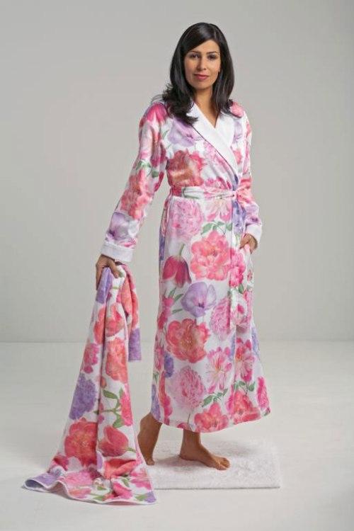 Женские халаты на махровой подкладке Bouquet