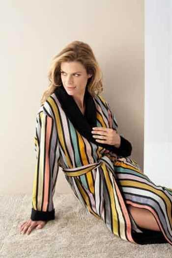 Женские халаты на махровой подкладке Ribbon black