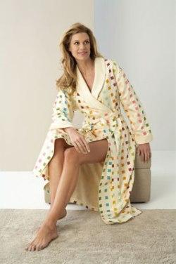 Женские халаты на махровой подкладке Square light