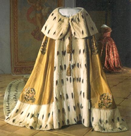 Мантия российских императоров, меховые изделия из ценнейших пород меха