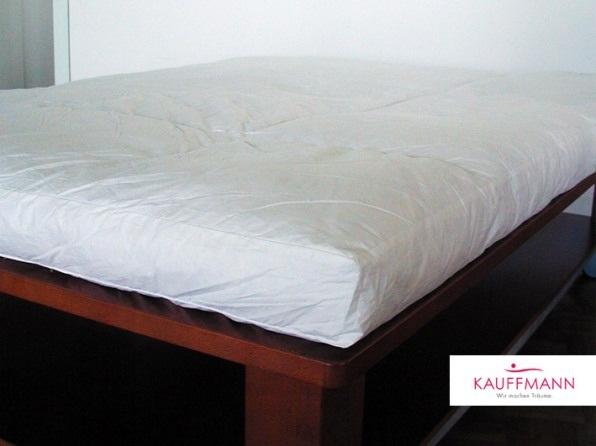 Пуховая перина Kauffmann 15 см, перина с климат контролем. По индивидуальному заказу перина на круглую кровать